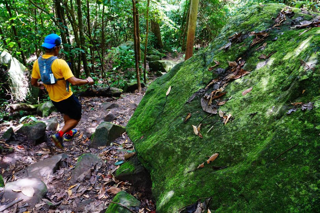 ความสูงชันอาจเป็นอุปสรรคในการเดิน+วิ่ง แต่ที่ประมาทไม่ได้คือก้อนหินตามทาง